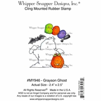 "Whipper Snapper Cling Stamp 4""x6"" - Grayson Ghost"