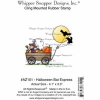 "Whipper Snapper Cling Stamp 4""x6"" - Halloween Express"