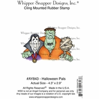 "Whipper Snapper Cling Stamp 4""x6"" - Halloween Pals"