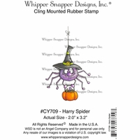 "Whipper Snapper Cling Stamp 4""x6"" - Harry Spider"