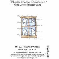 "Whipper Snapper Cling Stamp 4""x6"" - Haunted Window"