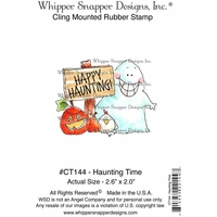 "Whipper Snapper Cling Stamp 4""x6"" - Haunting Time"
