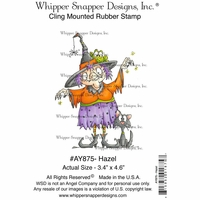"Whipper Snapper Cling Stamp 4""x6"" - Hazel"