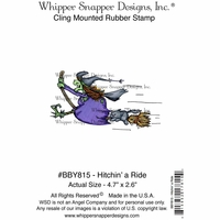 "Whipper Snapper Cling Stamp 4""x6"" - Hitchin' A Ride"