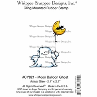 "Whipper Snapper Cling Stamp 4""x6"" - Moon Balloon Ghost"