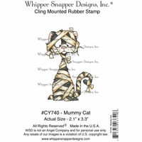 "Whipper Snapper Cling Stamp 4""x6"" - Mummy Cat"