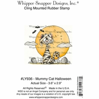 "Whipper Snapper Cling Stamp 4""x6"" - Mummy Cat Halloween"