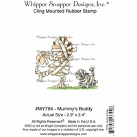"Whipper Snapper Cling Stamp 4""x6"" - Mummy's Buddy"