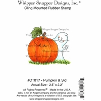 "Whipper Snapper Cling Stamp 4""x6"" - Pumpkin & Sid"