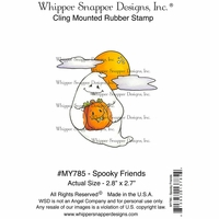 "Whipper Snapper Cling Stamp 4""x6"" - Spooky Friend"