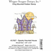 "Whipper Snapper Cling Stamp 4""x6"" - Spooky Haunted House"