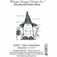"Whipper Snapper Cling Stamp 4""x6"" - Trick Or Treat Ghost"