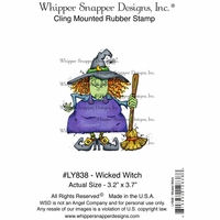 "Whipper Snapper Cling Stamp 4""x6"" - Wicked Witch"
