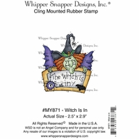 "Whipper Snapper Cling Stamp 4""x6"" - Witch Is In"