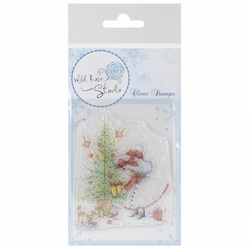 Wild Rose Studio Ltd. Clear Stamp Set - Annabelle and Tree - Click to enlarge