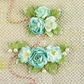 "Winthrop Paper Flowers 3"" & 5.5"" - Turquoise"
