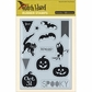 Witch Hazel Cling Stamps - Bats & Banners
