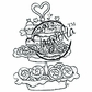 With Love Cling Stamp - Baked With Love