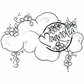 With Love Cling Stamp - Flower Cloud
