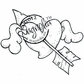 With Love Cling Stamp - Flying Heart