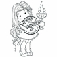 With Love Cling Stamp - Tilda With Love Potion