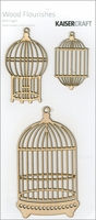 Wood Flourishes - Bird Cages