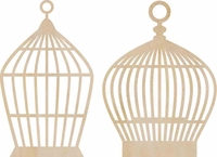 Wood Flourishes - Birdcages