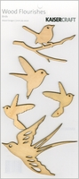 Wood Flourishes - Birds