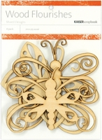 Wood Flourishes - Butterflies