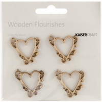 Wood Flourishes - Flourish Hearts