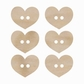 Wood Flourishes - Heart Buttons