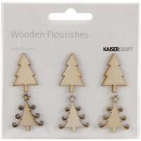 Wood Flourishes - Mini Christmas Trees