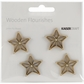Wood Flourishes - Mini Stars