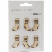 Wood Flourishes - Mini Stockings