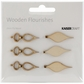 Wood Flourishes - Mini Tear Drop Baubles