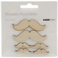 Wood Flourishes - Moustache