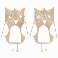Wood Flourishes - Owls