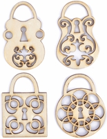 Wood Flourishes - Padlocks