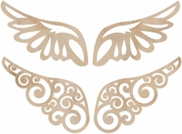 Wood Flourishes - Wings