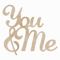 Wood Flourishes Words - You & Me