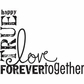 "Wood Mounted Rubber Stamp 2.5""x3.25"" - Love Words"