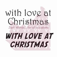 """Woodware Clear Stamps 2.5""""x1.75"""" - With Love At Christmas"""