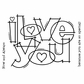 "Woodware Clear Stamps 3.5""x5.5"" - Huge Love"