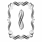 """Woodware Clear Stamps 3.5""""x5.5"""" - Swirly Frame"""