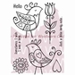 "Woodware Clear Stamps 5.5""x3.5"" - Love Birds"