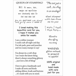 Woodware Clear Stamps - Hand Crafted By - Click to enlarge