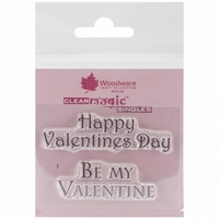 Woodware Clear Stamps - Happy Valentine's Day
