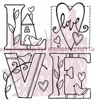 Woodware Clear Stamp - Love