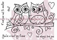 Woodware Clear Stamp - Owl Love