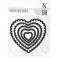 Xcut Nesting Dies - Scalloped Heart